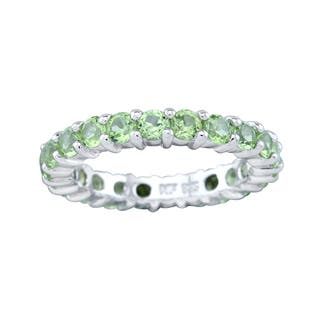 Pangea Mines Peridot Eternity Band Ring|https://ak1.ostkcdn.com/images/products/13929464/P20561962.jpg?impolicy=medium
