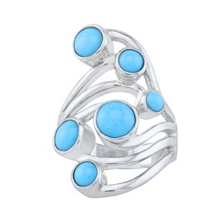 Pangea Mines Sleeping Beauty Turquoise Bypass Ring