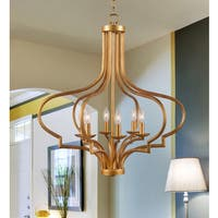 Motif 6 Light Chandelier - Gold