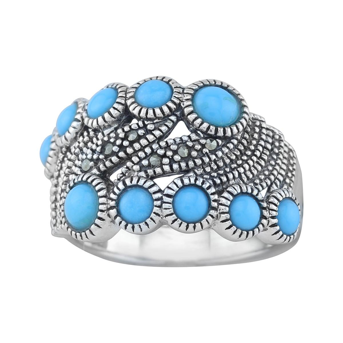 Matrix Pangea Mines Sterling Silver Turquoise Ring (Pange...