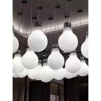 Contempo Lights LightUp White Aluminum Color-changing Pendant Lamp