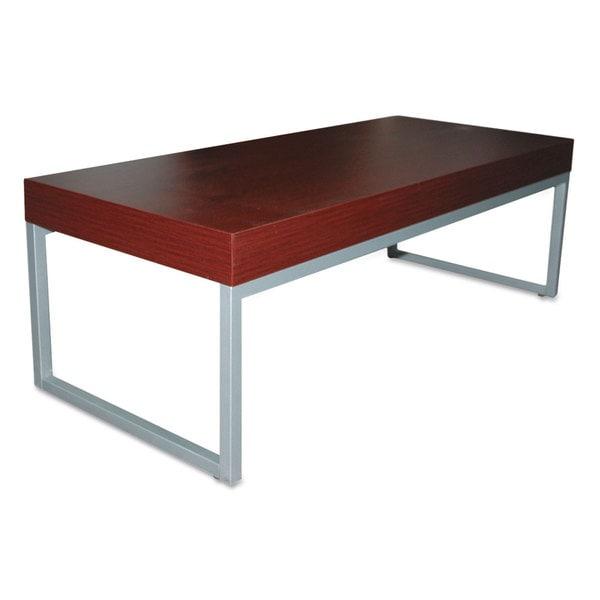 Shop Alera Contemporary Mahogany Silver Coffee Table