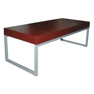 Alera Contemporary Mahogany Silver Coffee Table