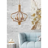 Motif 4 Light Chandelier - Gold