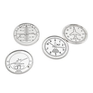 Godinger Silver Metal Airplane Coasters (Pack of 4)