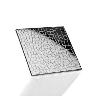 Godinger Croco Design Silver Metal Coasters (Pack of 4)