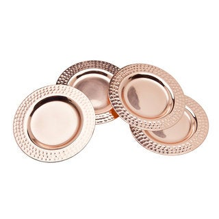Godinger Copper Round Coasters (Pack of 4)