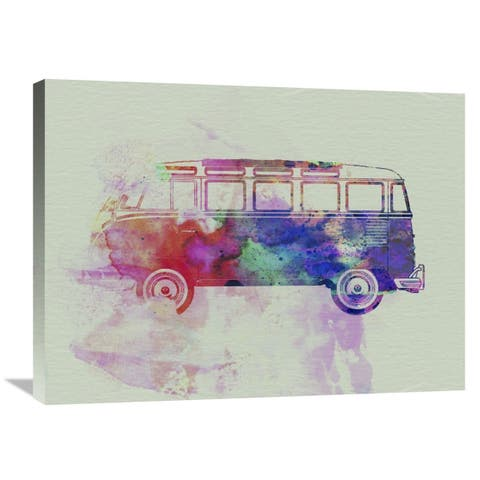 NAXART Studio 'VW Bus Watercolor' Stretched Canvas Wall Art