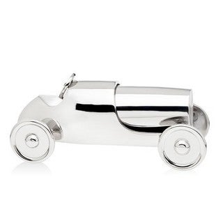 Godinger Silvercolored Metal Race Car Cocktail Shaker