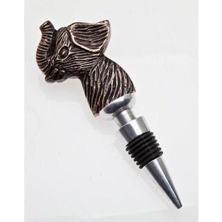 Godinger Elephant Copper Metal Bottle Stopper