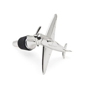 Godinger Silver-tone Metal Airplane Bottle Stopper