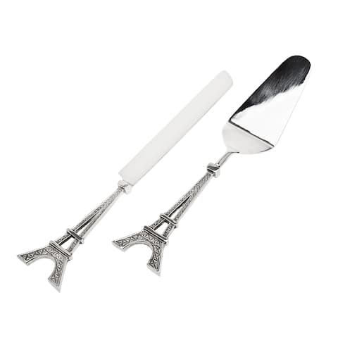 Godinger Eiffel Tower Cake Knife and Server Set