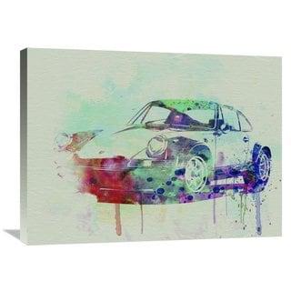 NAXART Studio 'Porsche 911 Watercolor 2' Stretched Canvas Wall Art