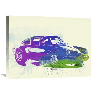 NAXART Studio 'Porsche 911 Watercolor' Stretched Canvas Wall Art