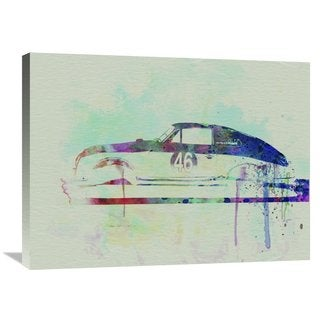NAXART Studio 'Porsche 356 Watercolor' Stretched Canvas Wall Art