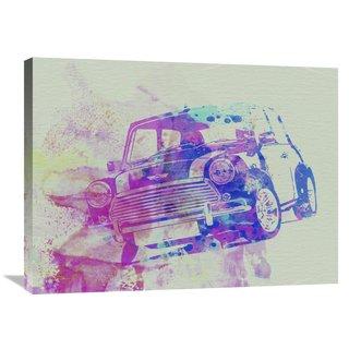NAXART Studio 'Mini Cooper' Stretched Canvas Wall Art