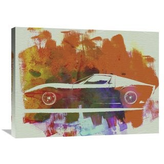 NAXART Studio 'Lamborghini Miura Side 2' Stretched Canvas Wall Art