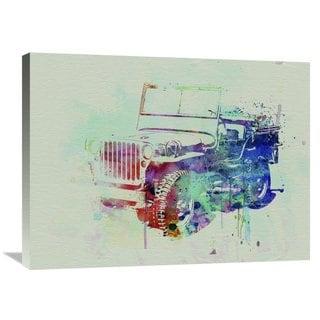NAXART Studio 'Jeep Willis' Stretched Canvas Wall Art