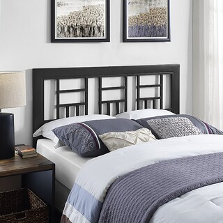 The Curated Nomad Flatiron Black Metal Square Queen Headboard