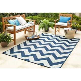 Mohawk Home Oasis Tofino Chevron Indoor/Outdoor Area Rug (5'3 x 7'6)