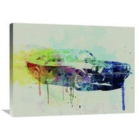 NAXART Studio 'Ford Mustang Watercolor 2' Stretched Canvas Wall Art