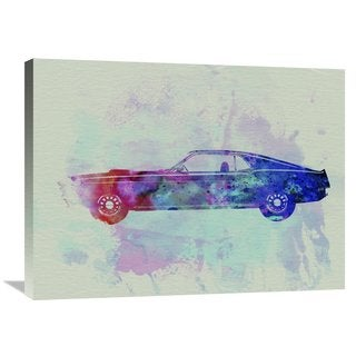 NAXART Studio 'Ford Mustang Watercolor 1' Stretched Canvas Wall Art