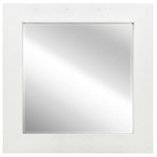 Silver-on-white Metallic Shagreen Leather Framed Beveled Wall Mirror