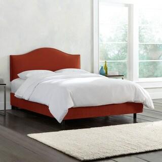 Skyline Furniture Nailhead Trim Mystere Velvet Upholstered Bed