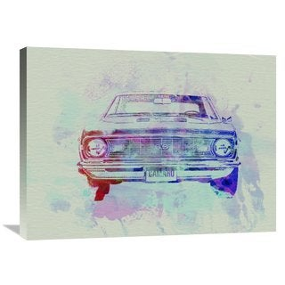 NAXART Studio 'Chevy Camaro Watercolor 2' Stretched Canvas Wall Art