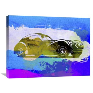NAXART Studio 'Bugatti Atlantic Watercolor 2' Stretched Canvas Wall Art