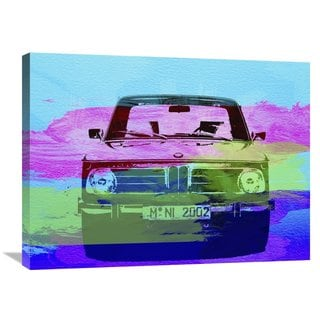 NAXART Studio 'BMW 2002 Front Watercolor 1' Stretched Canvas Wall Art