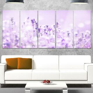 Designart 'Stunning Purple Lavender Field' Landscape Artwork Glossy Metal Wall Art (2 options available)