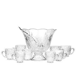 Godinger Dublin 10-piece Clear Crystal Punch Set