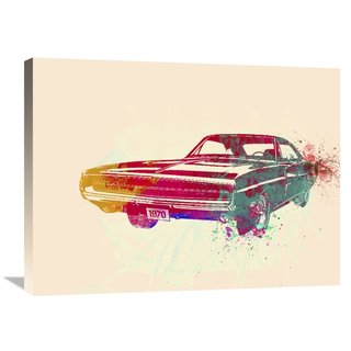 NAXART Studio '1967 Dodge Charger 1' Stretched Canvas Wall Art