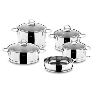 Rio Professional Line 9-piece Stainless Steel Cookware Set by Hisar