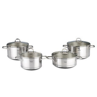 Rio 8-piece Stainless Steel Cookware Set by Hisar