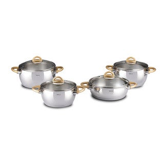 Bahama Golden 9-piece Stainless Steel Non-stick Cookware Set by Hisar