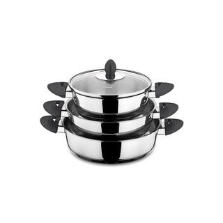 Lisbon 6-piece Black Stainless Steel Egg Pan Set