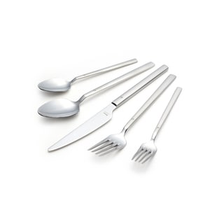 Milan 30-piece Flatware Set with Crystal Matte Satin Finish Service for 6