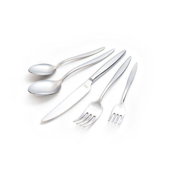 Mercury Mirror-polished Finish 30-piece Flatware Set with Service for 6 by Hisar. Opens flyout.