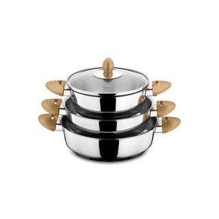 Lisbon 6 Piece Stainless Steel Egg Pan Set - Gold