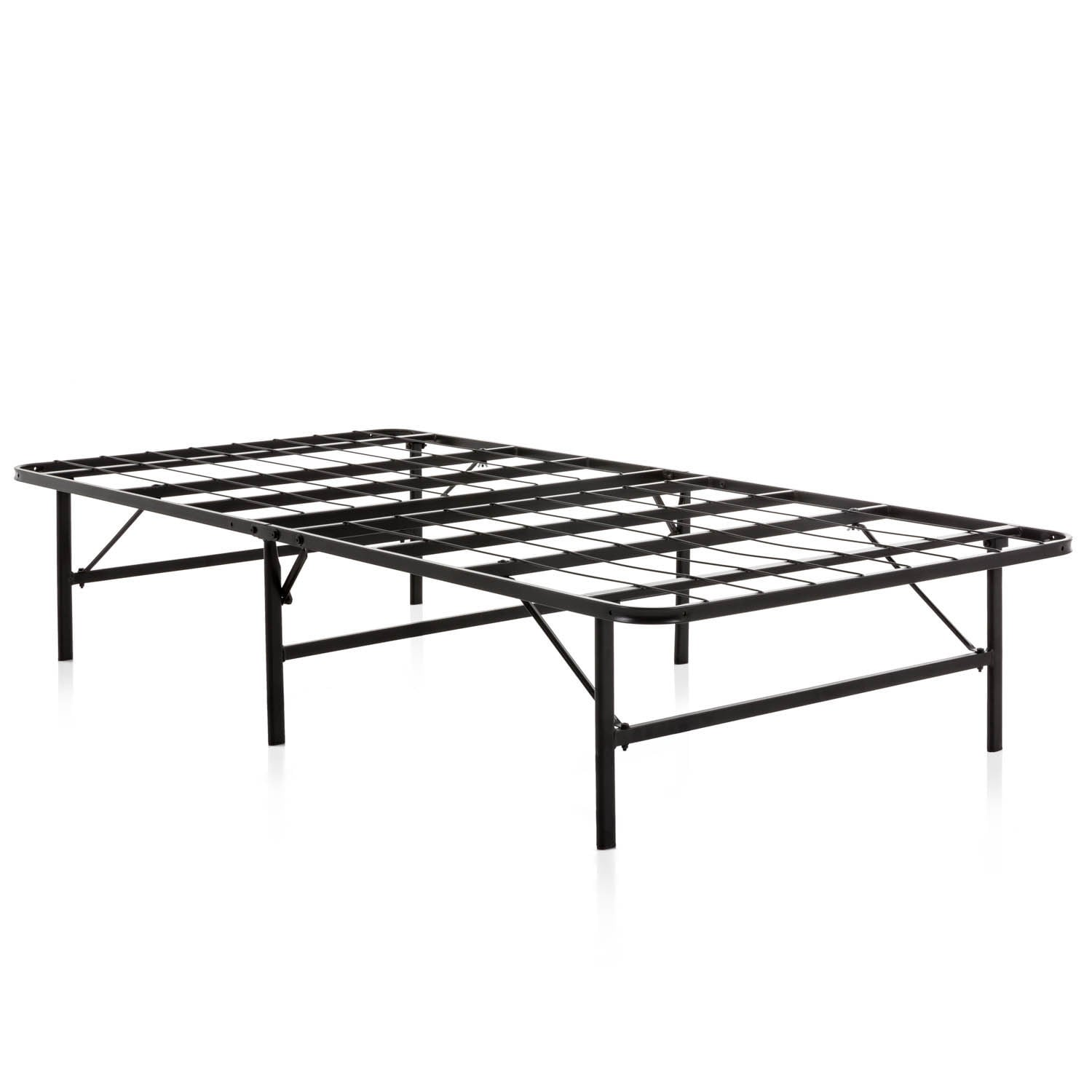 - Shop Weekender Folding Platform Black Metal Queen Bed Frame