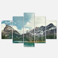 Designart 'Yoho National Park Panorama' Landscape Artwork Glossy Metal Wall Art