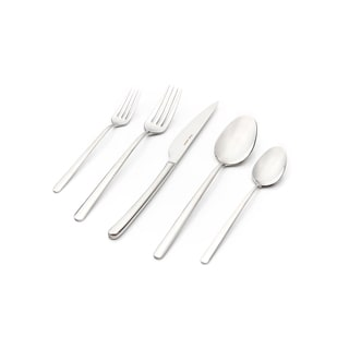 Bahama Mirror-polished Finish 30-piece Flatware Set with Service for 6 by Hisar