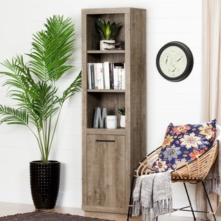 South Shore Kanji Brown 3-shelf Bookcase