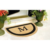 A1HC First Impression Engineered Coir Anti Shred Bleach Half Round Fade Resistant Doormat
