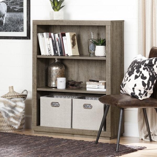 shop south shore furniture kanji 3 shelf bookcase free shipping today 13930040. Black Bedroom Furniture Sets. Home Design Ideas