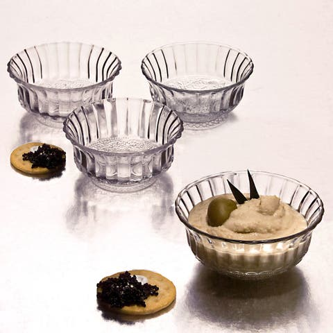 Godinger Ren Col Clear Glass 4-inch Bowl (Pack of 4)