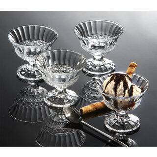 Godinger Clear Glass Ice Cream Cups (Pack of 4)