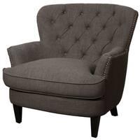 Emma Tufted Back Fabric Arm Chair